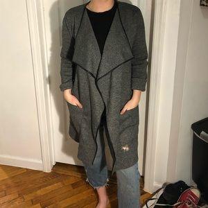 Zara Long Grey Sweater Coat